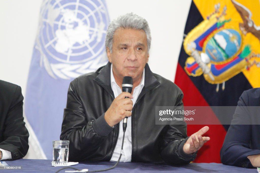 CONAIE And Ecuadorian Government Firt Meeting : News Photo