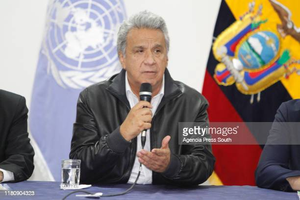 President of Ecuador, Lenin Moreno announce the revocation of Decree 883 after a first meeting of CONAIE and the Ecuadorian Government to resolve the...