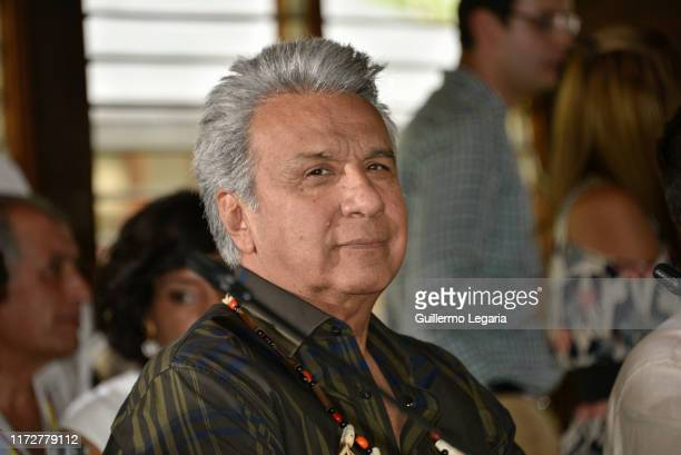 President of Ecuador Lenin Moreno attends the inauguration of the Summit of Presidents for the Amazon on September 06, 2019 in Leticia, Colombia....