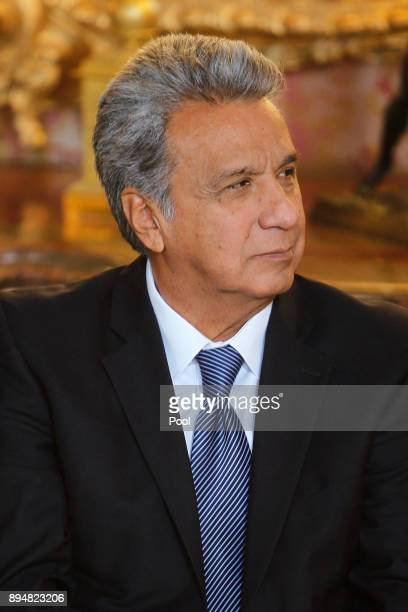 President of Ecuador Lenin Moreno Garces attend an official Lunch at the Royal Palace on December 18 2017 in Madrid Spain