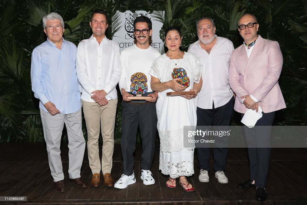 Hotel Xcaret Awards Angelica Aragon and Manolo Caro : News Photo