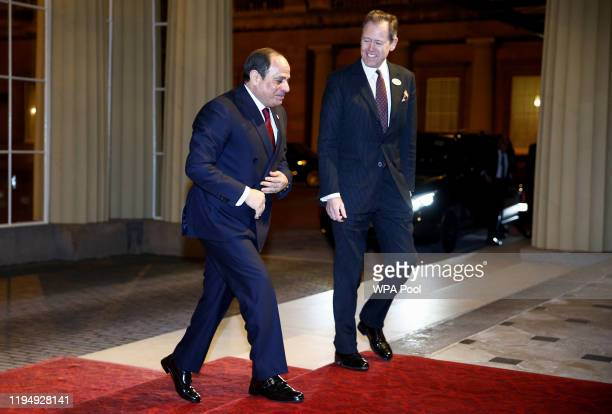 President of Egypt Abdel Fattah al-Sisi arrives as Prince William, Duke of Cambridge and Catherine, Duchess of Cambridge host a reception to mark the...