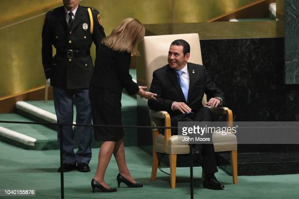President of Egypt Abdel Fattah alSisi prepares to depart after addressing the United Nations General Assembly on September 25 2018 in New York City...