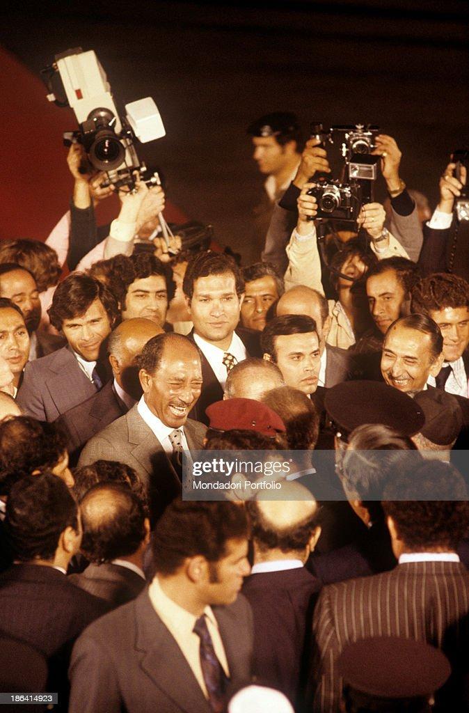 Arrival of Anwar Sadat in Jerusalem : News Photo