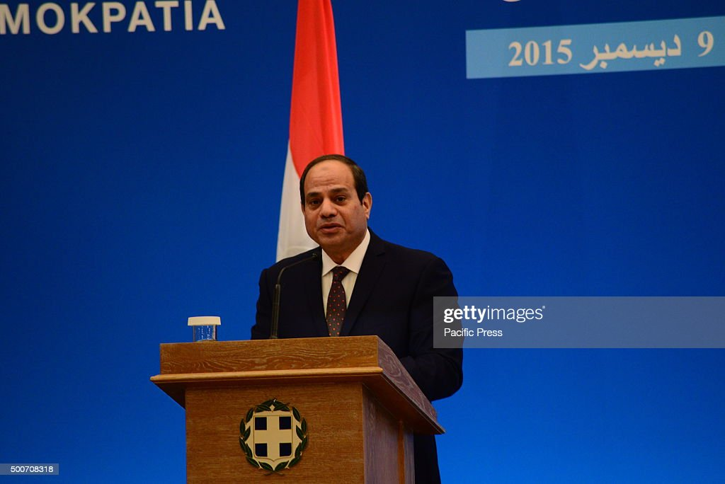 President of Egypt Mr. Abdel Fattah Al-Sisi in the press... : News Photo