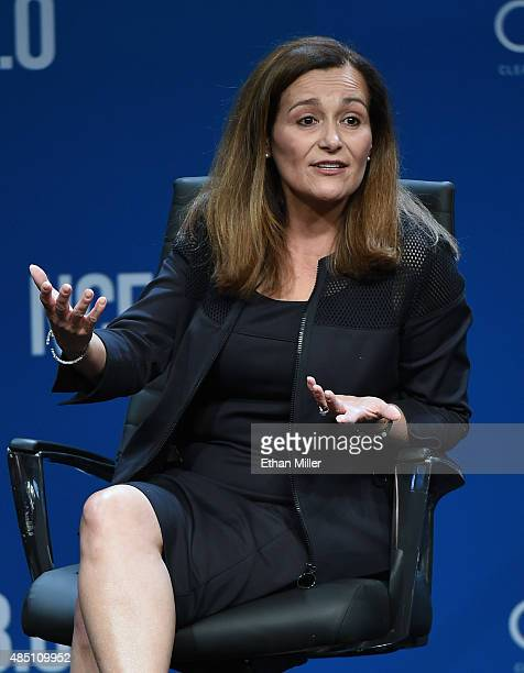President of Electric Operations at Pacific Gas and Electric Company Geisha Williams speaks at the National Clean Energy Summit 80 at the Mandalay...