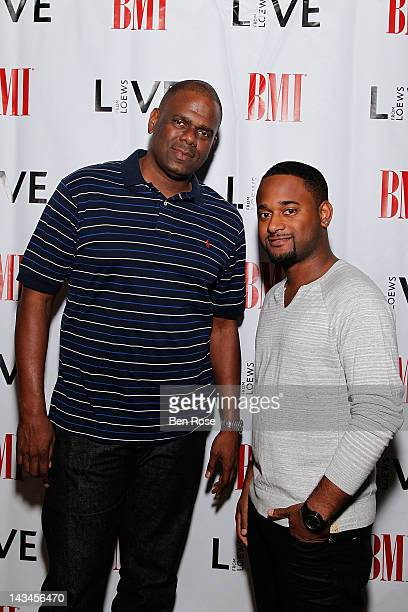 President of EMI Music Publishing Big Jon Platt and BMI Executive Byron Wright attend BMI Presents: Live From Loews at Bar Eleven at the Loews...