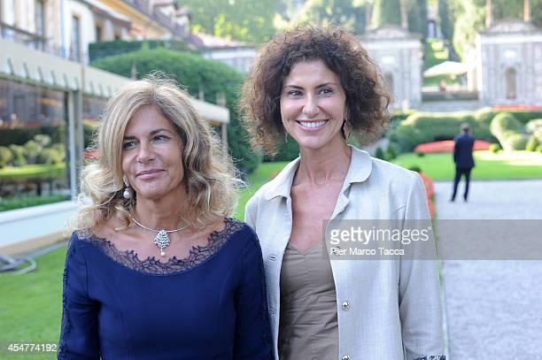 President of ENI Emma Marcegaglia and President of Poste Italiane Luisa Todini attend the Ambrosetti International Economy Forum at Villa d'Este...