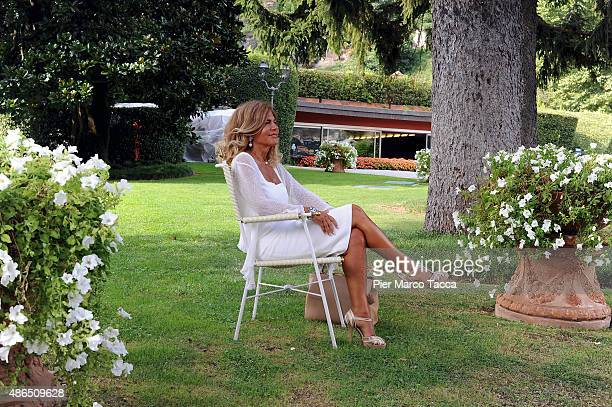 President of ENI Emma Marcegaglia attends the Ambrosetti international economic forum at villa d'Este hotel on September 4 2015 in Cernobbio near...