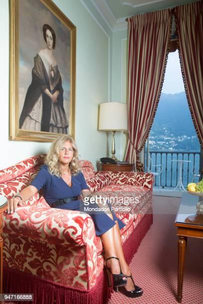 President of ENI Emma Marcegaglia in her room in Villa D'Este during the event Forum Ambrosetti. Cernobbio, Italy. 2nd September 2016