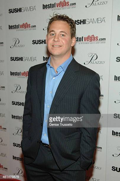 President of Entertainment Benefits Group Brett Reizen arrives at the BestOfVegascom launch at Sushi Samba at the Palazzo in the Venetian Hotel and...
