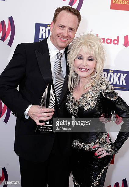 President of Entertainment of Showtime Networks Inc Robert Greenblatt and musician Dolly Parton attend the 22nd Annual GLAAD Media Awards presented...