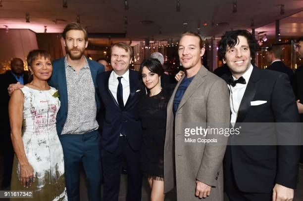 President of Epic Records Sylvia Rhone DJ Calvin Harris CEO of Sony Music Entertainment Rob Stringer singersongwriter Camila Cabello DJ Diplo and...