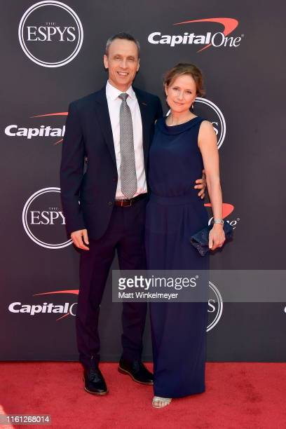 President of ESPN Inc James Pitaro and Jean Louisa Kelly attend The 2019 ESPYs at Microsoft Theater on July 10 2019 in Los Angeles California