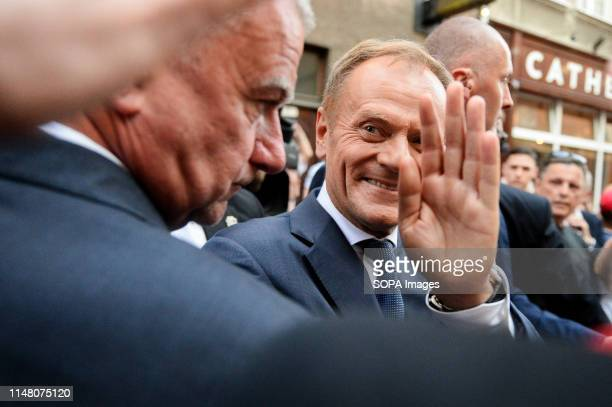 President of European Council Donald Tusk seen during Freedom and Solidarity Days in Gdansk Gdansk in the 1980s became the birthplace of the...