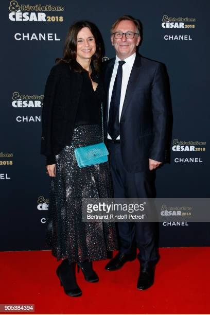 President of Fashion Activities at Chanel Bruno Pavlovsky and his wife Nathalie attend the 'Cesar Revelations 2018' Party at Le Petit Palais on...