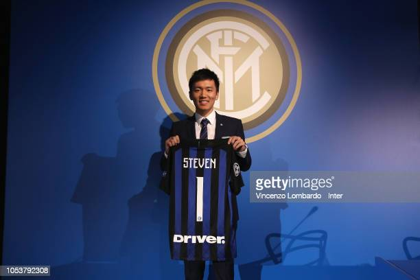 President of FC Internazionale Steven Zhang attends the FC Internazionale Shareholders Meeting on October 26, 2018 in Milan, Italy.
