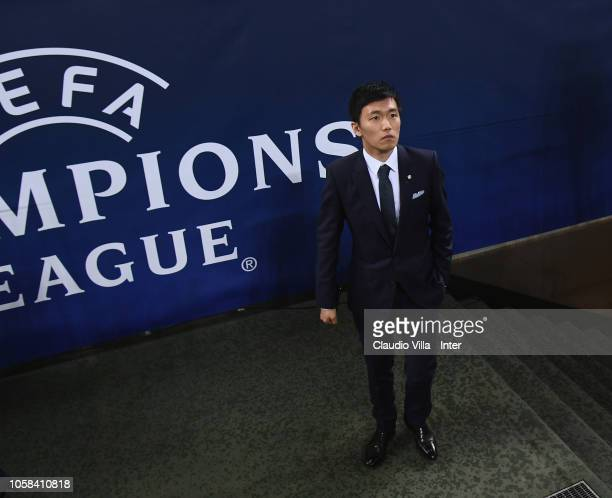 President of FC Internazionale Steven Zhang during the Group B match of the UEFA Champions League between FC Internazionale and FC Barcelona at San...