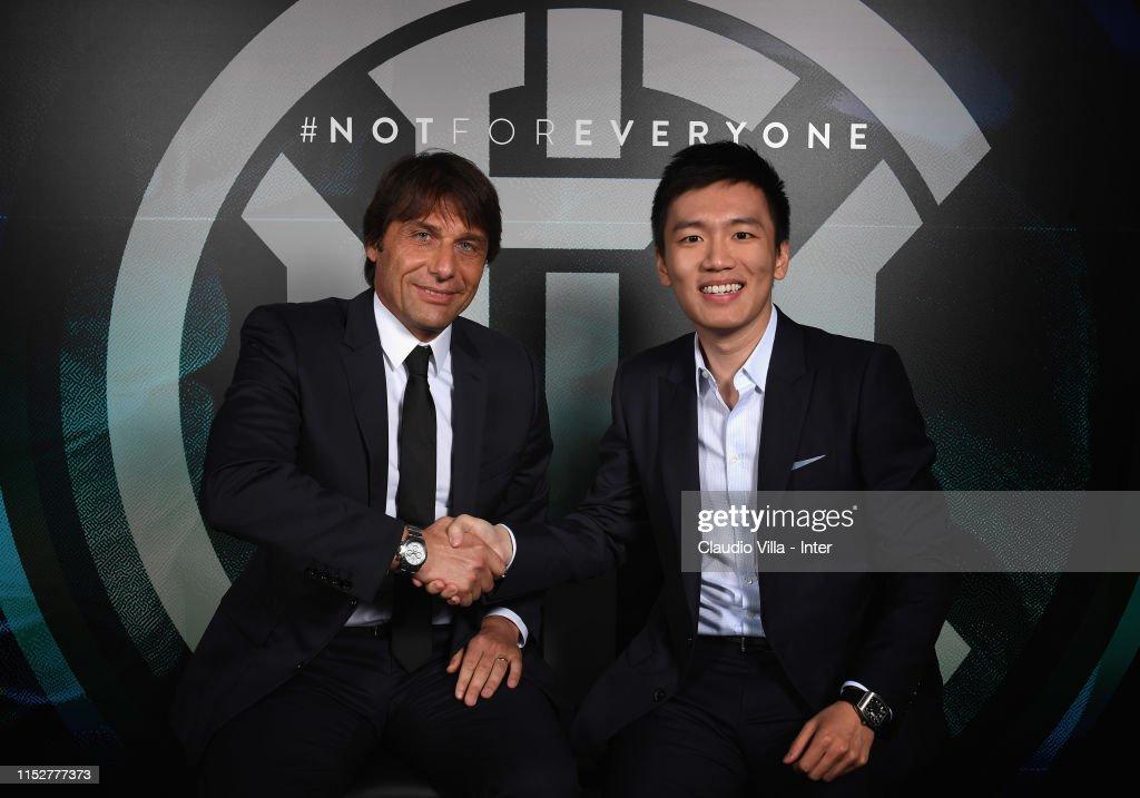 FC Internazionale Unveils New Coach Antonio Conte : News Photo