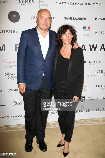 President of 'Federation Francaise de la Couture' Pascal Morand and General Director of 'Yves Saint Laurent' Francesca Bellettini attend the 'ANDAM...