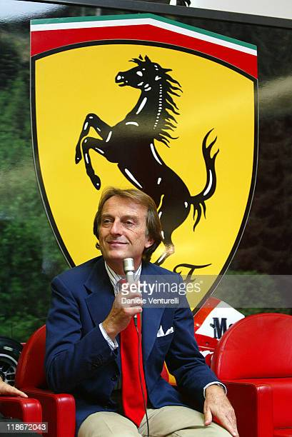 President of Ferrari Luca Cordero di Montezemolo during Festival Celebrating F1 Driver Michael Schumacher's 6 World Championships in Maranello Italy