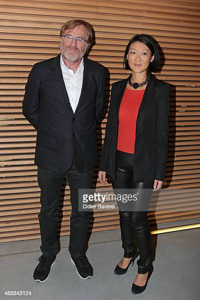 President of Festival Quentin Raspail and French Minister of Culture Fleur Pellerin attend the 16th Festival of TV Fiction of La Rochelle on...