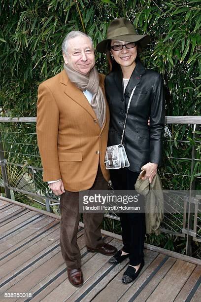 President of FIA Jean Todt and Actress Michelle Yeoh attend Day Fifteen Men single's Final of the 2016 French Tennis Open at Roland Garros on June 5...