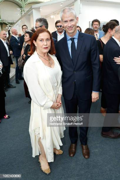 President of FIAC Jennifer Flay and French Minister of Culture Franck Riester attend the FIAC 2018 International Contemporary Art Fair Press Preview...