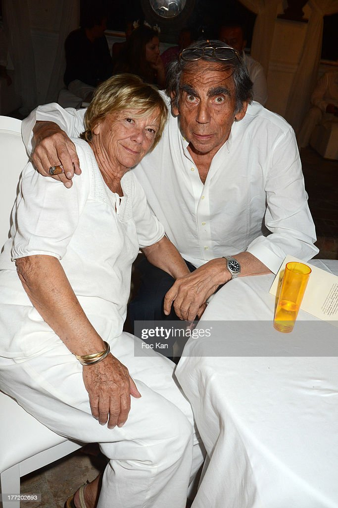 President of FIFA protocol Dr Pierre Huth and his wife Dr Francoise Huth attend the Massimo Gargia's Birthday Dinner at Moulins de Ramatuelle on August 21, 2013 in Saint Tropez, France.