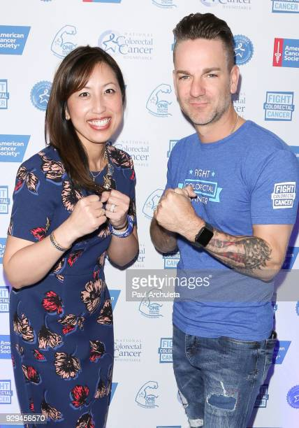 President Of Fight CRC Anjee Davis and Singer Craig Campbell attend The American Cancer Society 'Fight Colorectal Cancer' and The National Colorectal...
