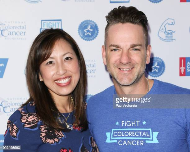 President Of Fight CRC Anjee Davis and Singer Craig Campbell attend The American Cancer Society Fight Colorectal Cancer and The National Colorectal...