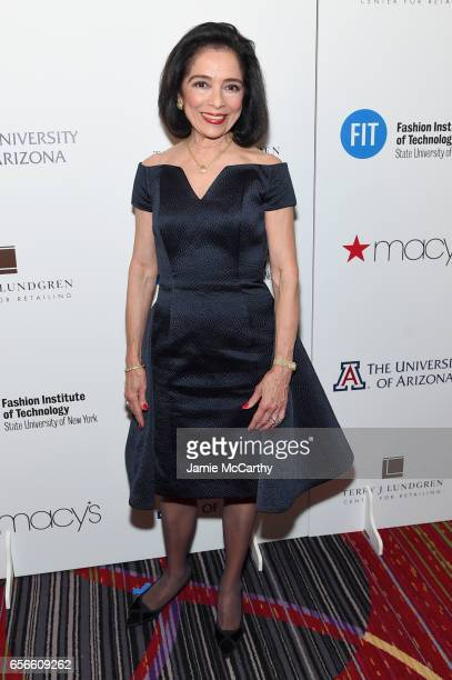 President of FIT Dr Joyce Brown attends the Fashion Institute Of Technology 2017 Gala at Marriott Marquis Times Square on March 22 2017 in New York...