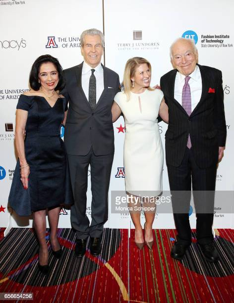 President of FIT Dr Joyce Brown honoree and chairman and CEO of Macy's Terry Lundgren Liz Peek and Chariman emeritus of The Estee Lauder Companies...