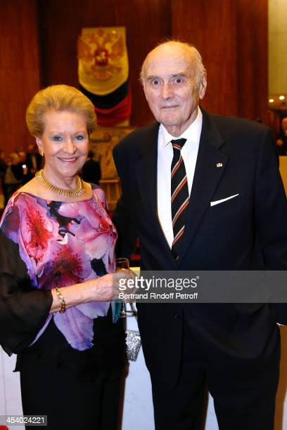 President of Fondation Romanoff Prince Dimitri Romanoff and Princess Romanoff attending the celebration of 26 Years of Russian French Friendship by...