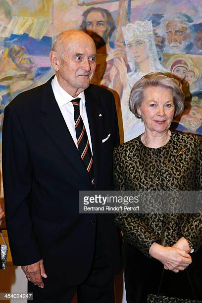 President of Fondation Romanoff Prince Dimitri Romanoff and Princess Vinvhuy attending the celebration of 26 Years of Russian French Friendship by...