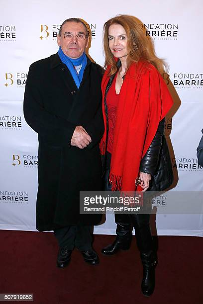 President of Forest Hill Michel Corbiere and his wife Actress Cyrielle Clair attend the Theater Price 2015 of Foundation Diane Lucien Barriere given...