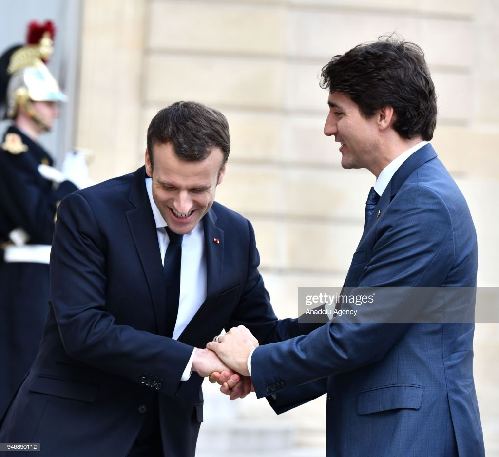 Prime Minister Of Canada Trudeau At The Elysee Palace Pictures