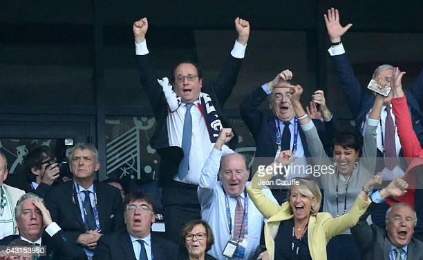 President of France Francois Hollande President of French Football Federation Noel Le Graet French Minister of Education Najat VallaudBelkacem...