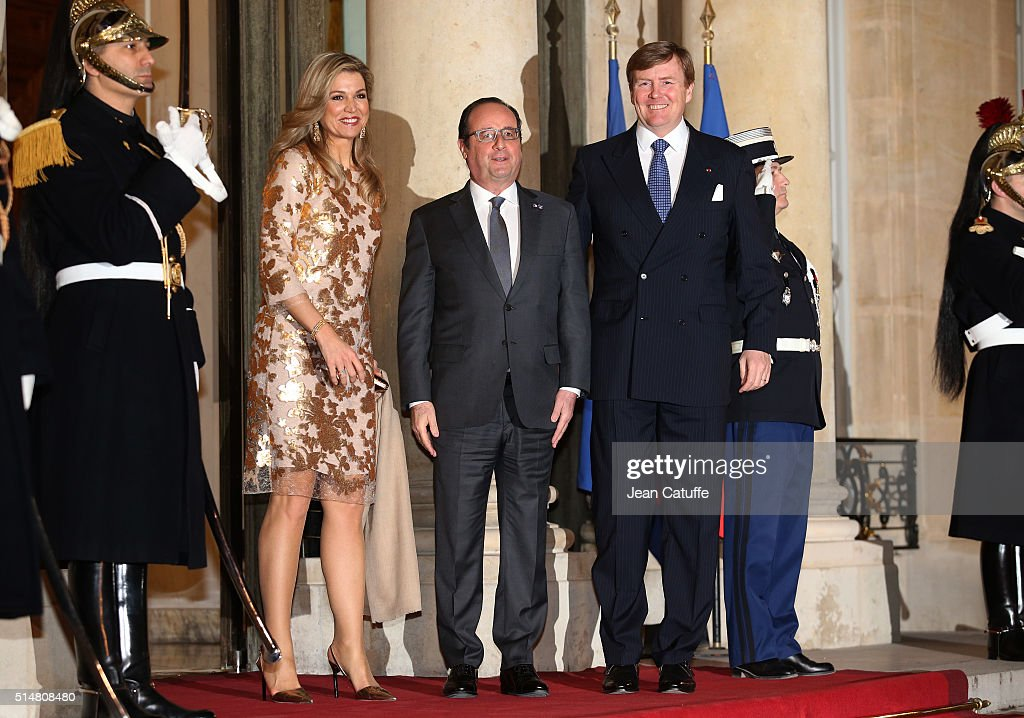 State Dinner in Honor Of King Willem-Alexander of the Netherlands and Queen Maxima At Elysee Palace : ニュース写真
