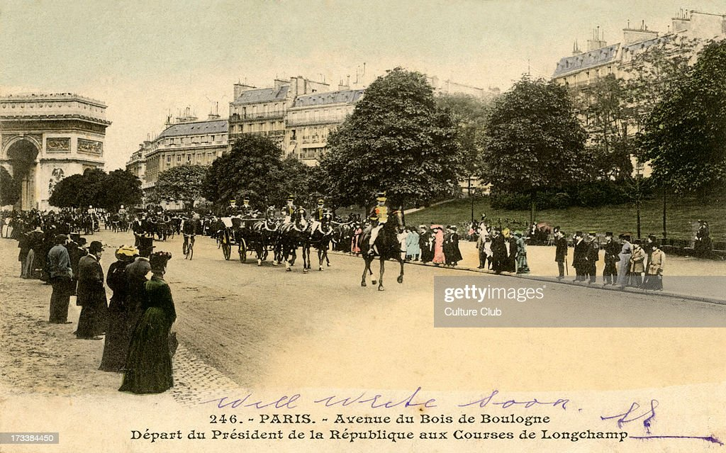 President of France on his way  to Longchamp : News Photo