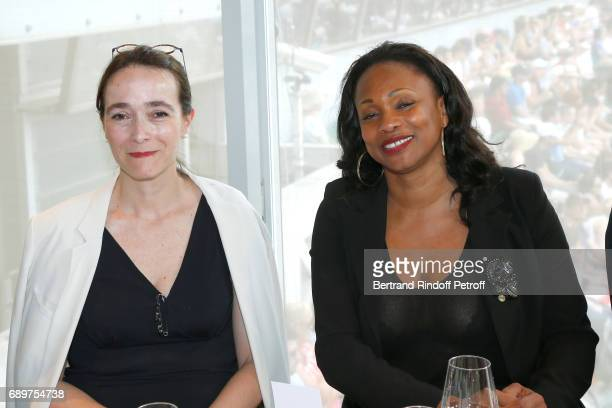 President of France Television Delphine Ernotte and French Minister of Sports Laura Flessel attend the 'France Television' Lunch during the 2017...