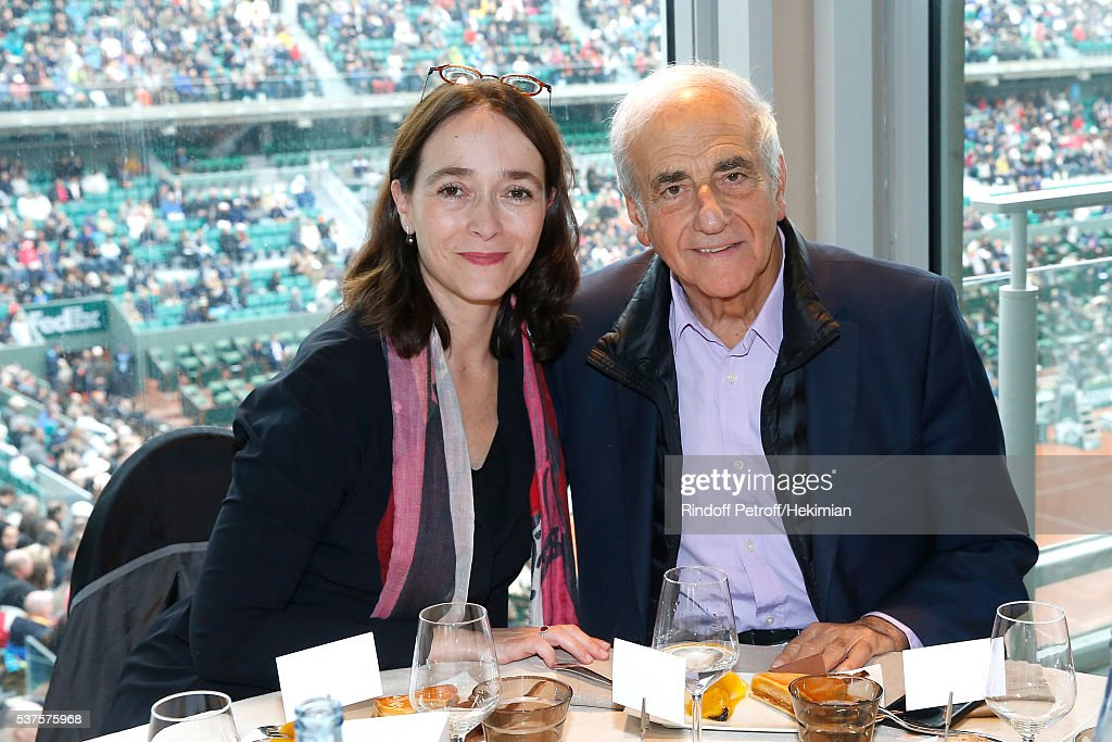 President of France Television, Delphine Ernotte and journalist Jean-Pierre Elkabbach attend the 'France Television' Lunch during Day Twelve of the 2016 French Tennis Open at Roland Garros on June 2, 2016 in Paris, France.