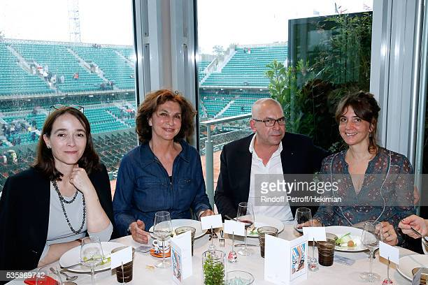 President of France Television Delphine Ernotte guest Philippe Torreton and his wife Elsa Boublil attend the 'France Television' Lunch during Day...
