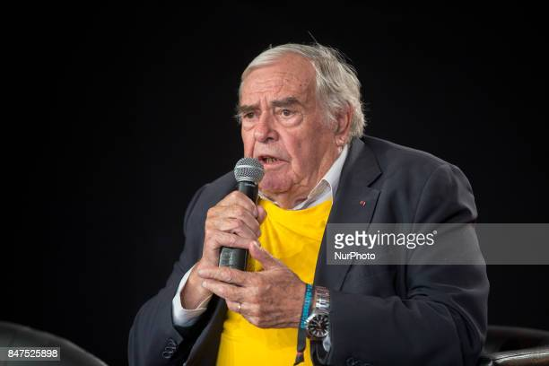 President of French association quotSecours Populairequot French Julien Lauprêtre takes part in a debate during the Festival of Humanity a political...