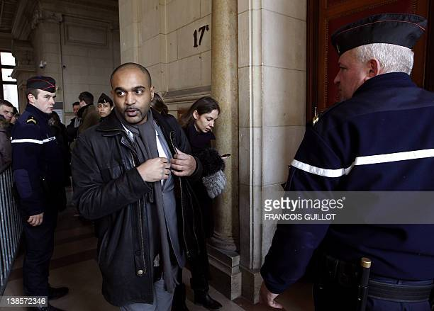 President of French association SOS racisme Dominique Sopo arrives at the Paris Courthouse on February 9 2012 to attend the trial for racial insult...