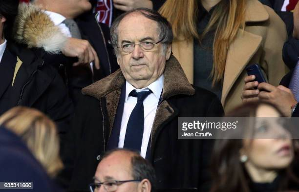 President of French Football Federation Noel Le Graet attends the UEFA Champions League Round of 16 first leg match between Paris SaintGermain and FC...