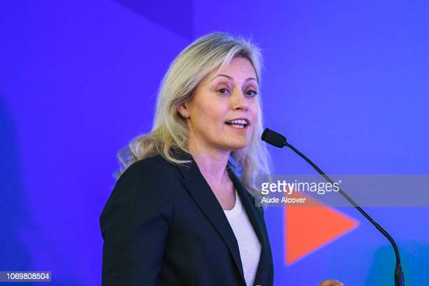 President of French Professional Football League and executive committee member Nathalie Boy De La Tour during the General Meeting of the French...