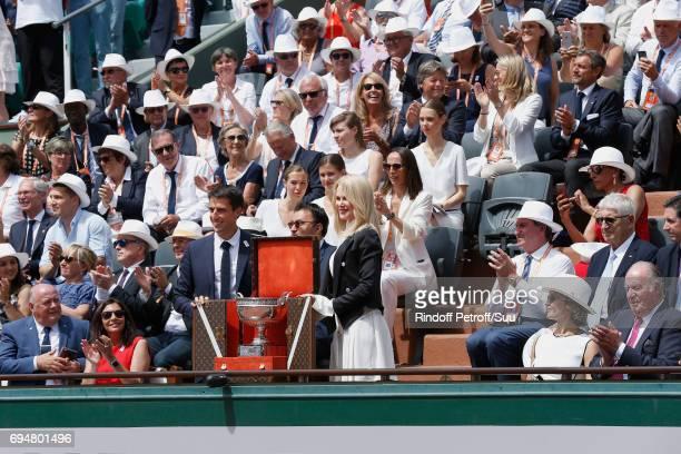 President of French Tennis Federation Bernard Giudicelli Mayor of Paris Anne Hidalgo Tony Estanguet Nicole Kidman former King of Spain Juan Carlos...