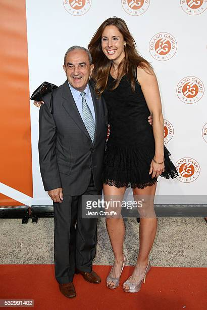 President of French Tennis Federation Jean Gachassin and Alize Cornet of France attend the 2016 French Open Players' Party held at the Petit Palais...