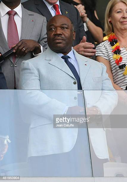 President of Gabon Ali Bongo Ondimba attends the 2014 FIFA World Cup Brazil Semi Final match between Brazil and Germany at Estadio Mineirao on July 8...
